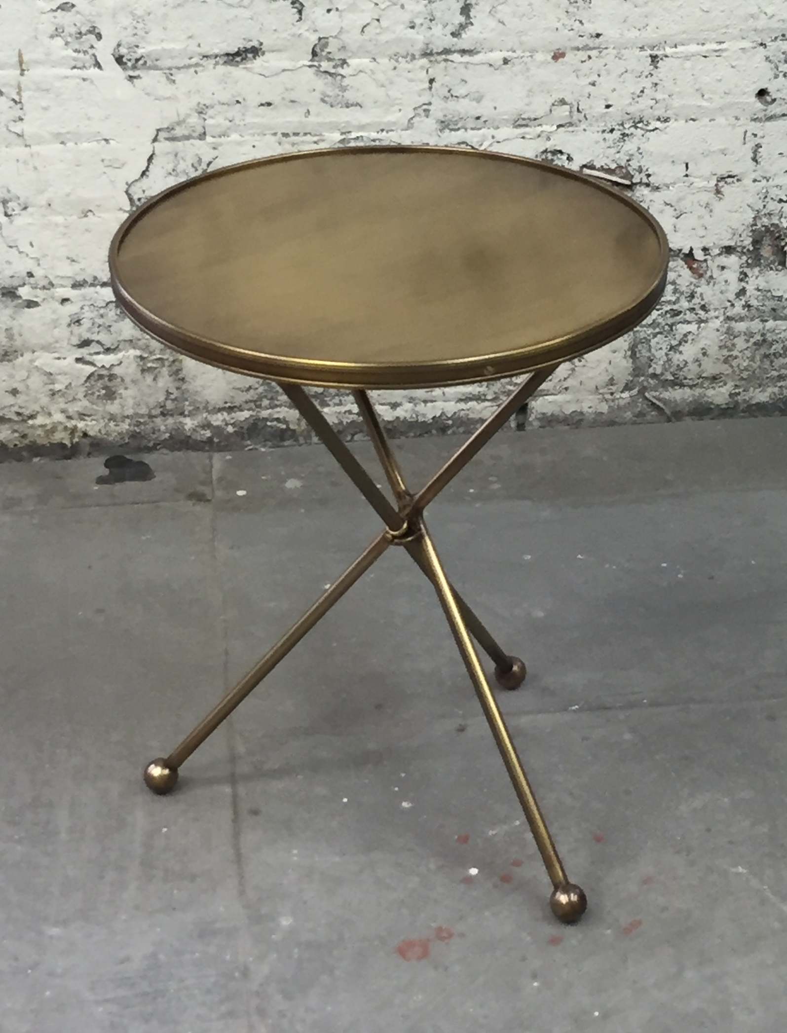 all brass Folding Campaign Table