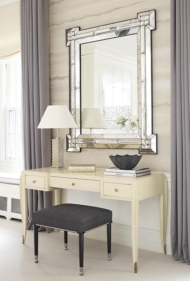 A custom R1094 Facet Mirror for Lichten Craig by Victoria & Son