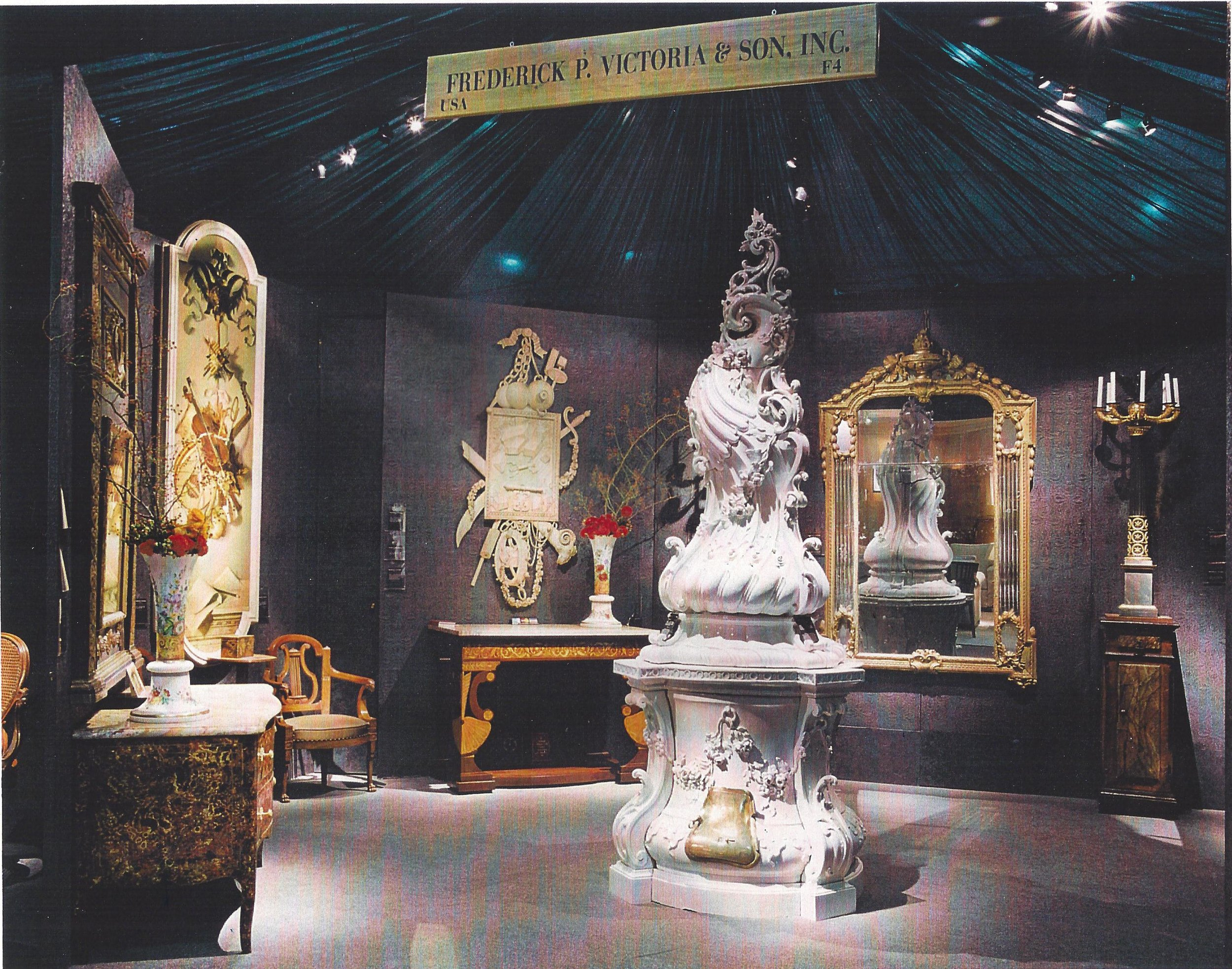 Frederick P. Victoria & Son, Inc.'s booth at the Winter Antique Show circa 1995