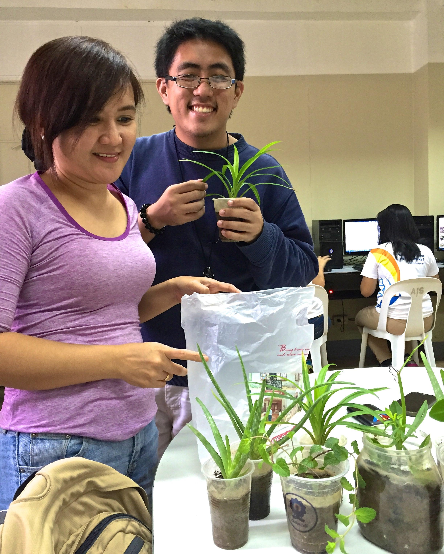 Maki and Judee with plants.jpg