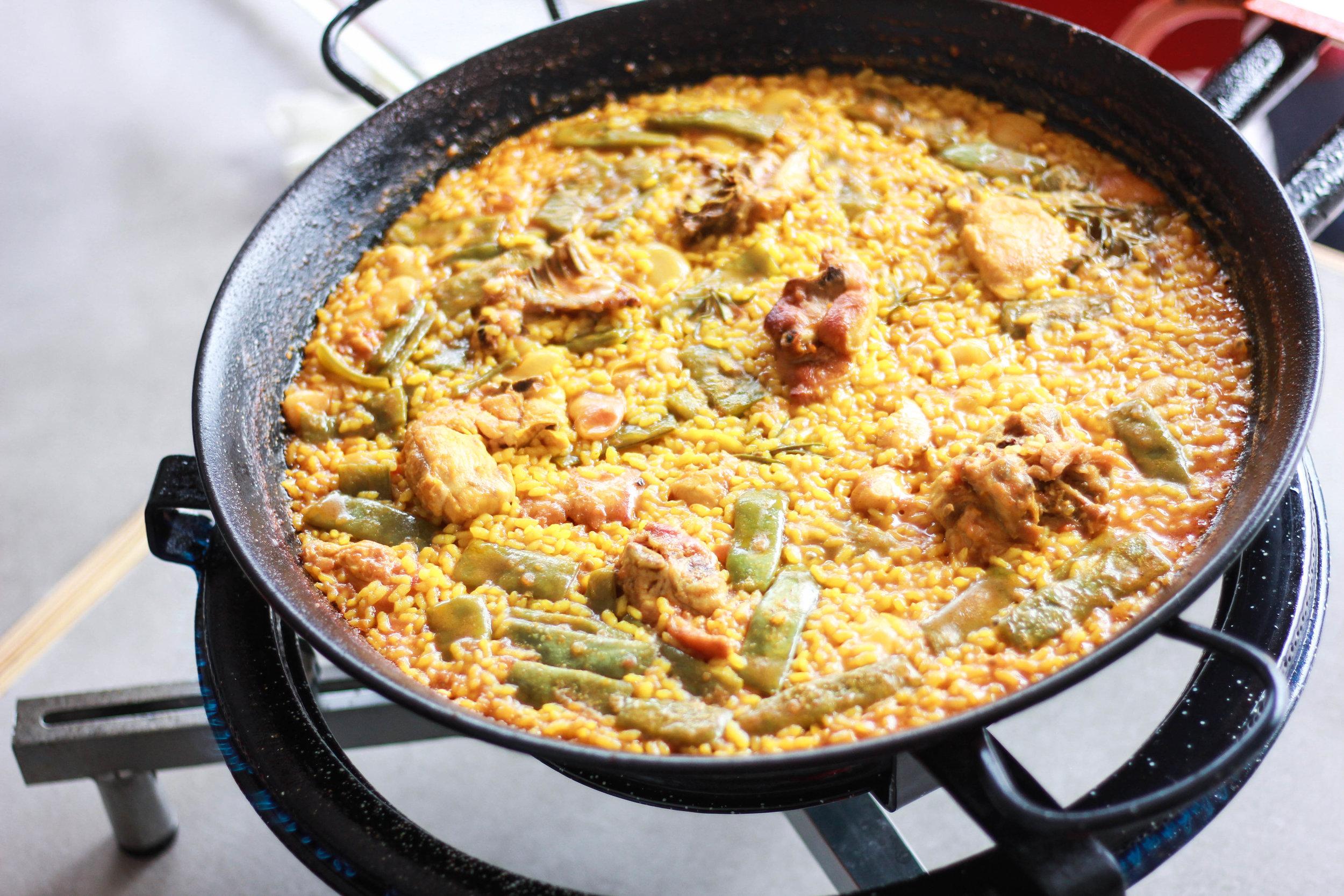 The finished product at Mi Paella En El Huerto