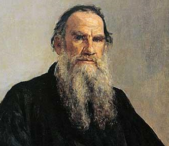 Russian author Leo Tolstoy