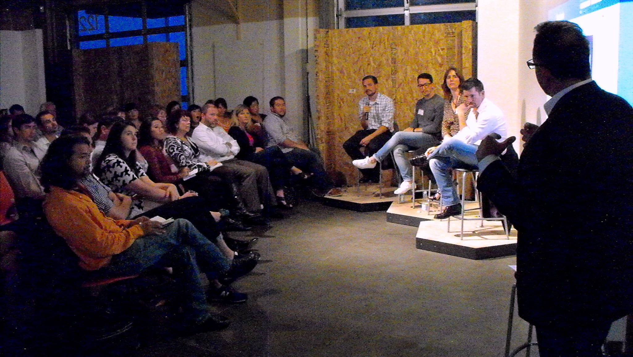 Digital Kitchen CEO Bill Fritsch addresses the panel at  Content Is Your Brand
