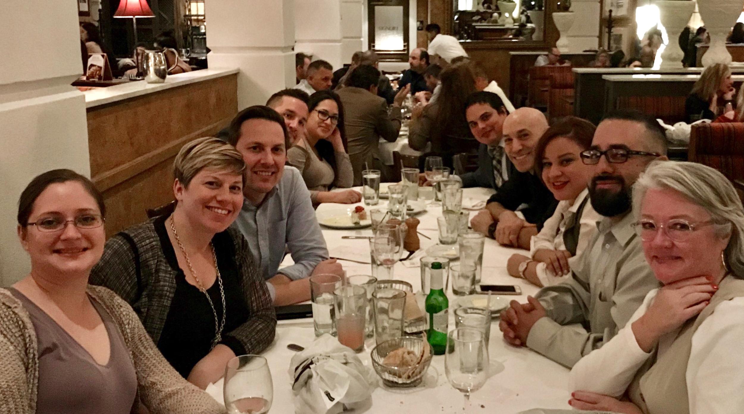Judges dinner with AAF Las Vegas crew kicks off the weekend