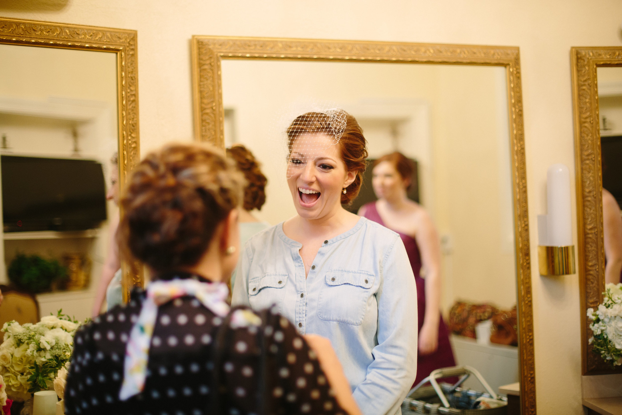 Sidenote: I live for this moment when brides look excited for their flowers!