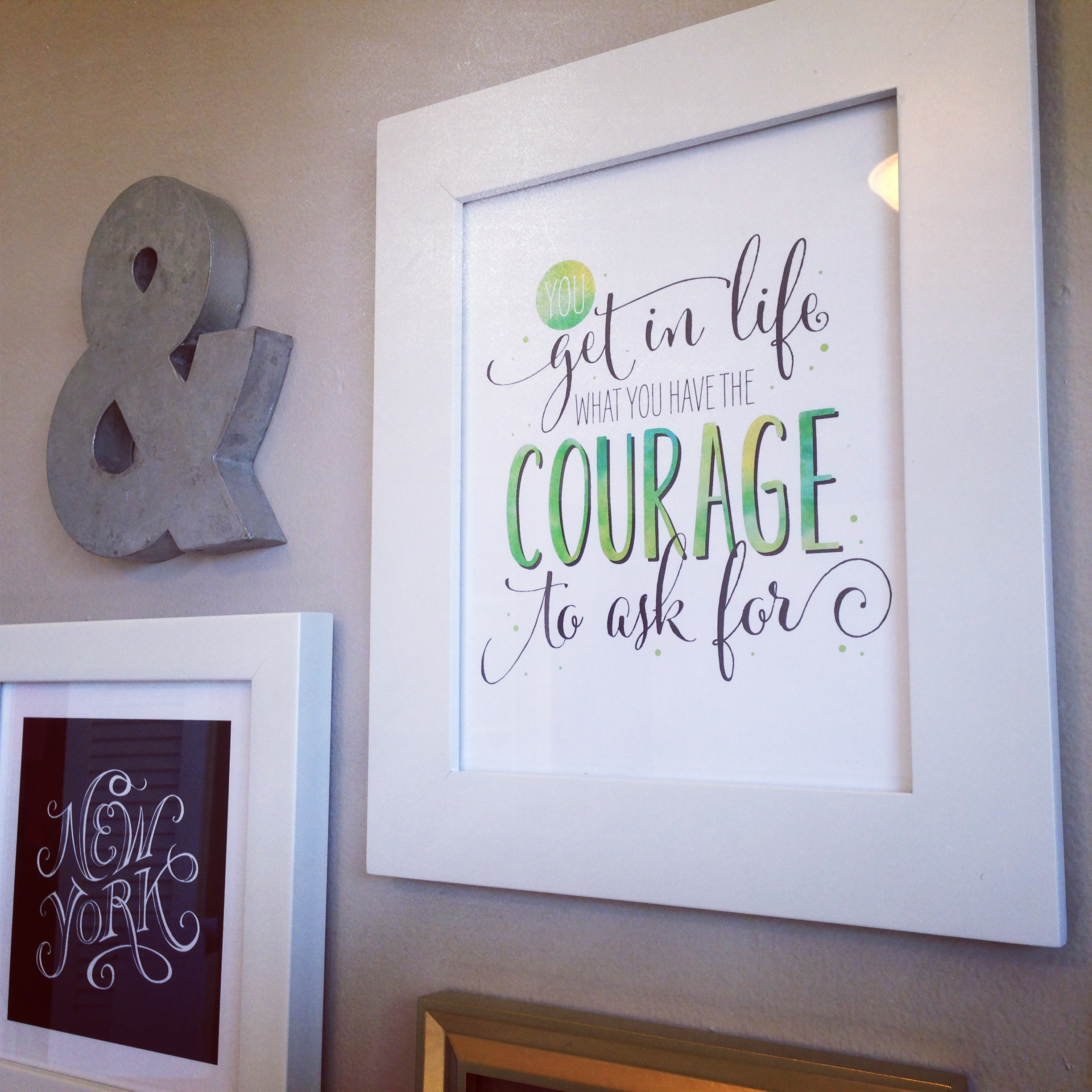 Courage Art Print by J. Amber Creative available at Etsy. The New York art print, although beautiful, is not my creation. However it is available on Minted.