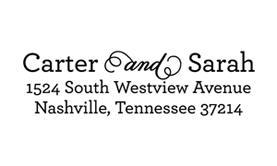 Curled Address Stamp $28 - $42