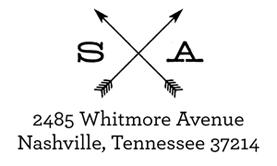 Arrows Address Stamp $28 - $42
