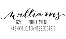 Bombshell Address Stamp $28 - $42