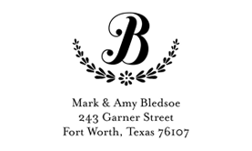 Delicate Branches Address Stamp $28 - $42