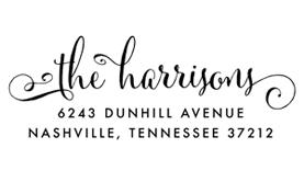 Cantoni Curls Address Stamp $28 - $42