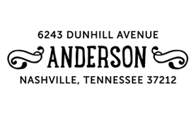 Drawn Banners Address Stamp $28 - $42