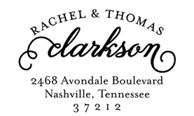 Scripted Arch Address Stamp $28 - $42