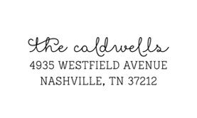 Showcase Address Stamp $28 - $42