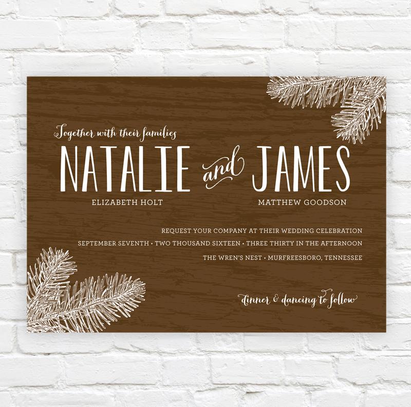 Woodsy Wedding Invitation by J. Amber Creative