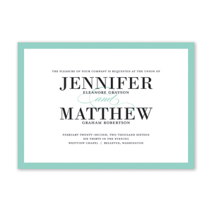 Bold Classic Wedding Invitation by Jamber Creative