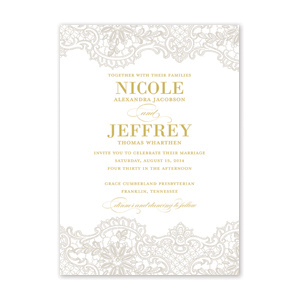 Lace Elegance Wedding Invitation by Jamber Creative