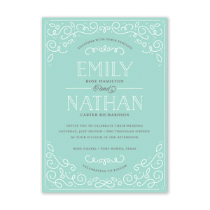 Scrollwork Wedding Invitation by Jamber Creative