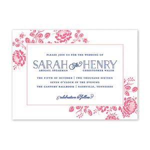 Floral Frame Wedding Invitation by Jamber Creative