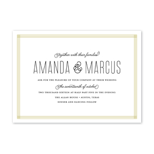 Triple Framed Wedding Invitation by Jamber Creative