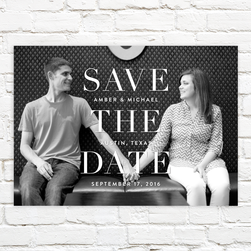 Stacked Type Save the Date