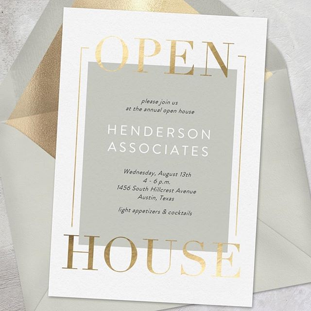"I love all the options you get at @greenvelope! These digital invites are perfect for occasions and events where paper is too ""extra!"" #greenvelope #stationerydesigner #openhouse #grandopening #digitalinvitation"