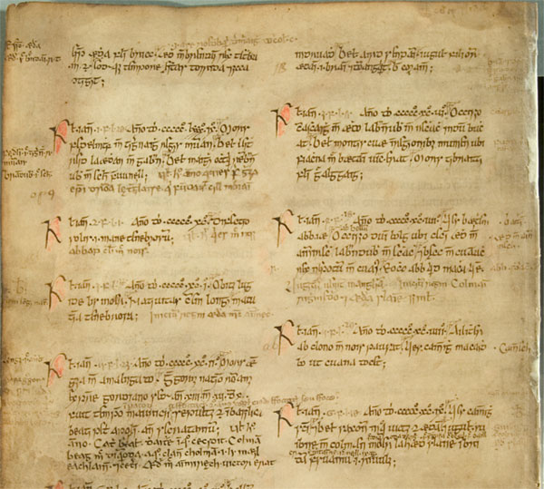 One of the manuscripts of the Anglo-Saxon Chronicle