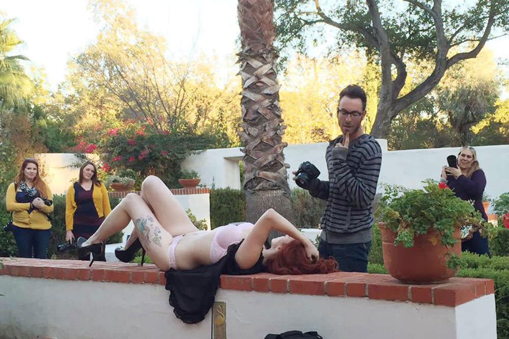 Teaching boudoir video at workshop