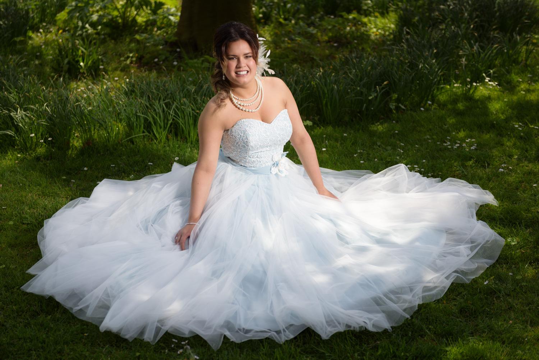 Bruid in het gras