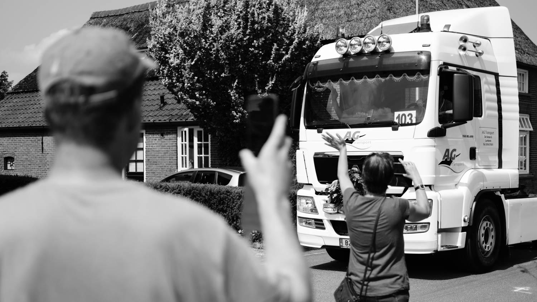 Filming trucks