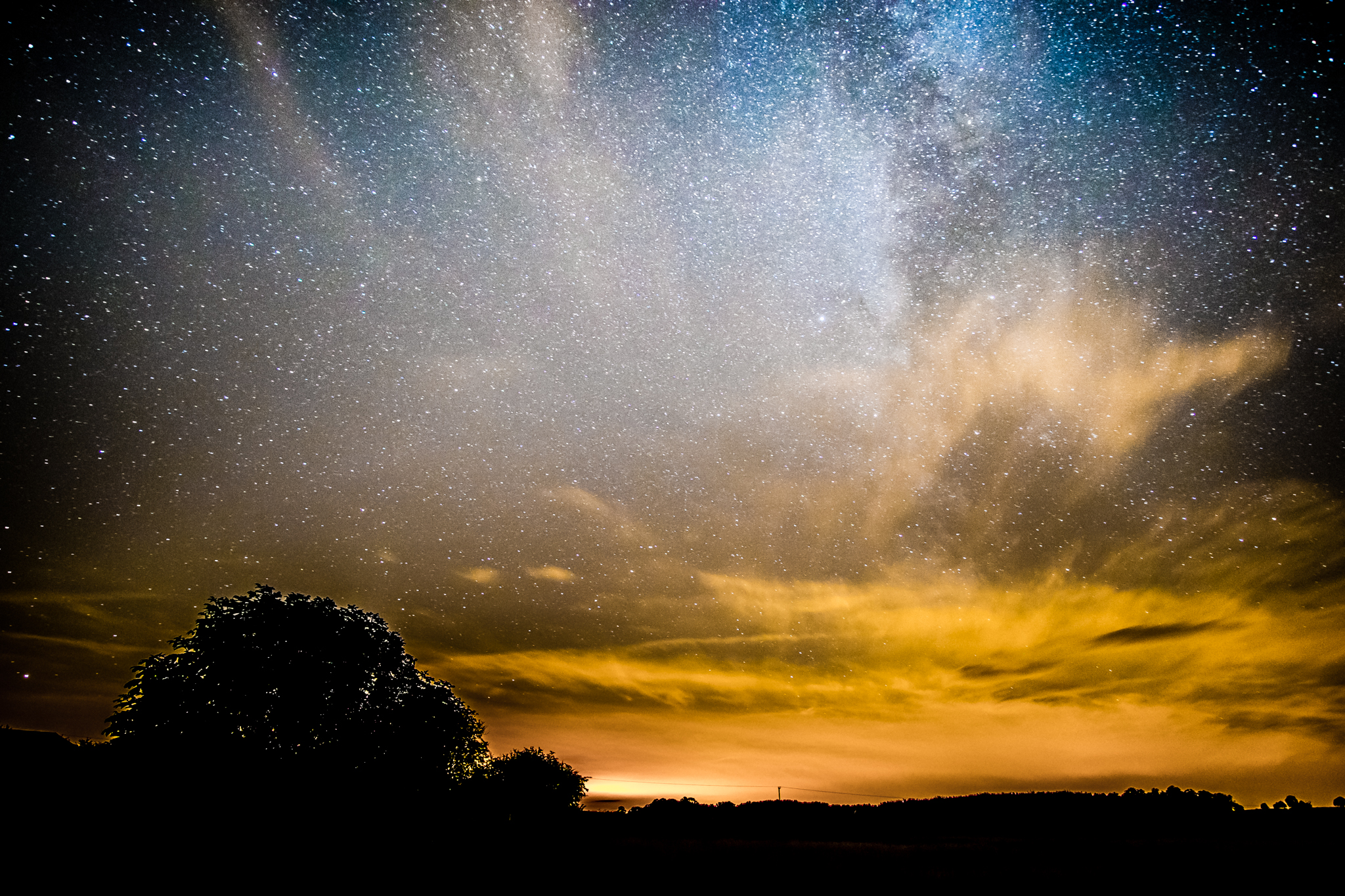 Fuji X-E1 Samyang 12mm 30 seconds F/2 ISO 1250 outside of Watton