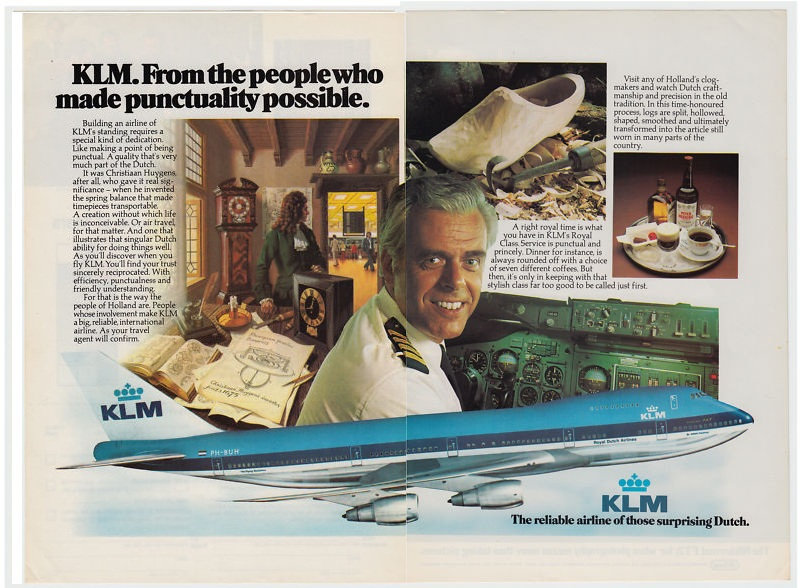 KLM Captain Jacob Van Zanten in a publicity photo from KLIM's inflight magazine.
