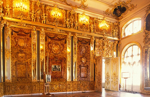The Amber Room at the Catherine Palace
