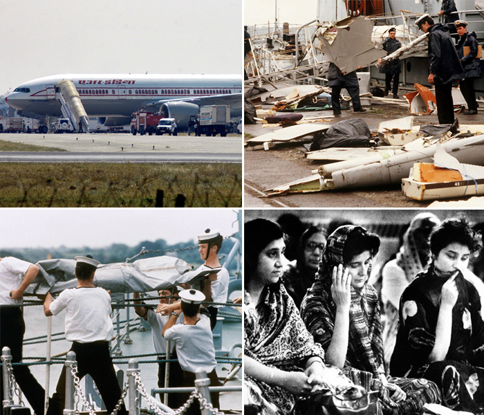 images of the air india bombing