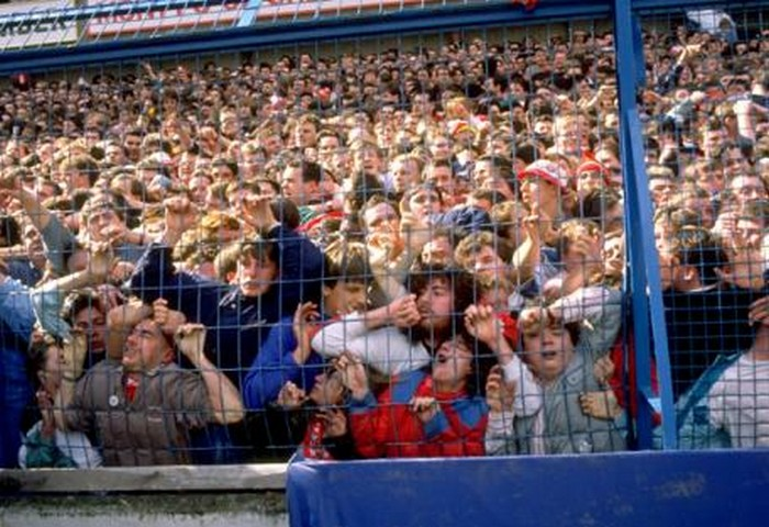 Football fans at hillsborough stadium