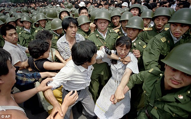 Civilians take on the Chinese Army
