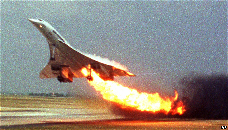 Air France flight 4590 at takeoff