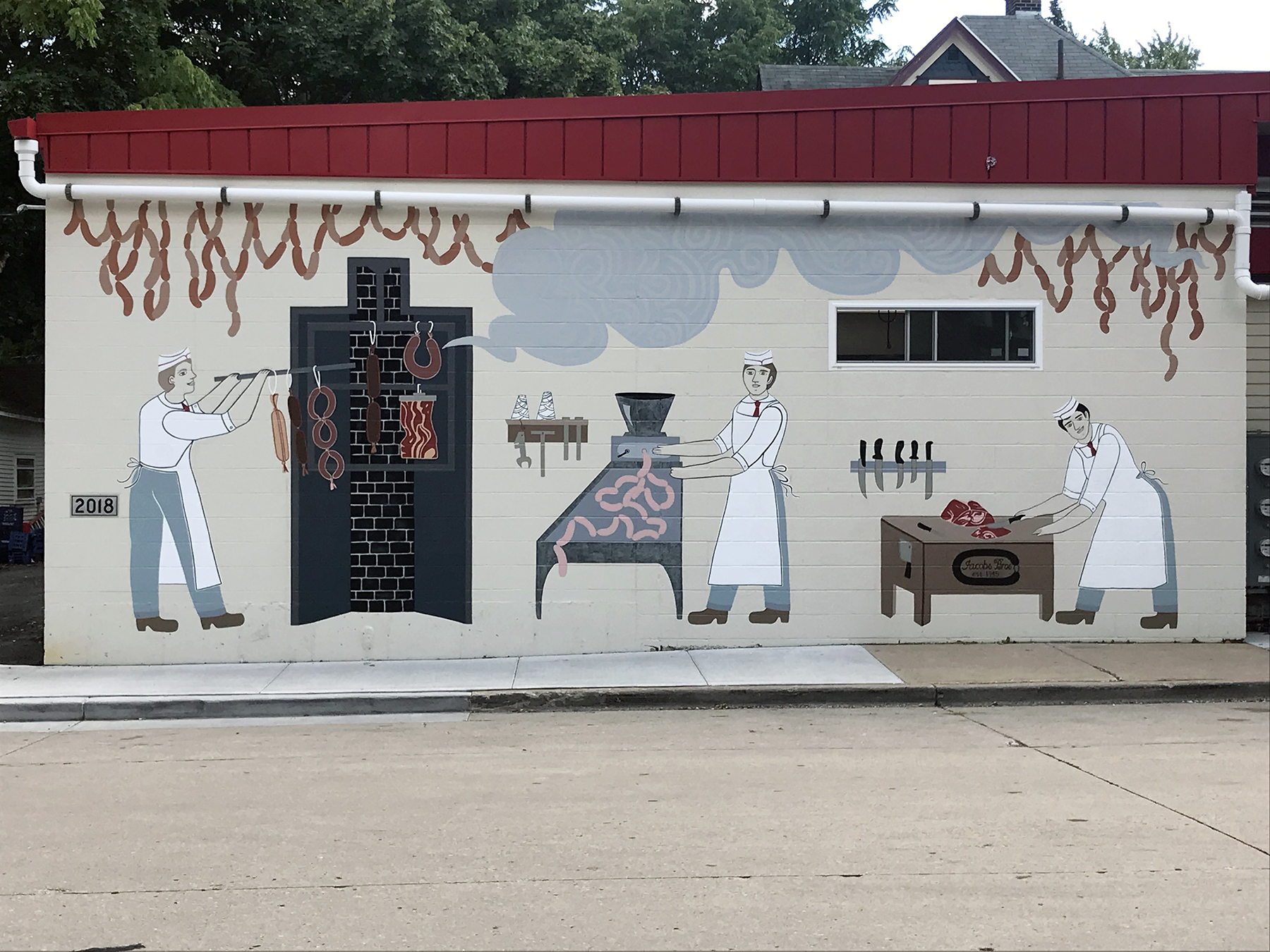 Jacob's Meat Market Mural