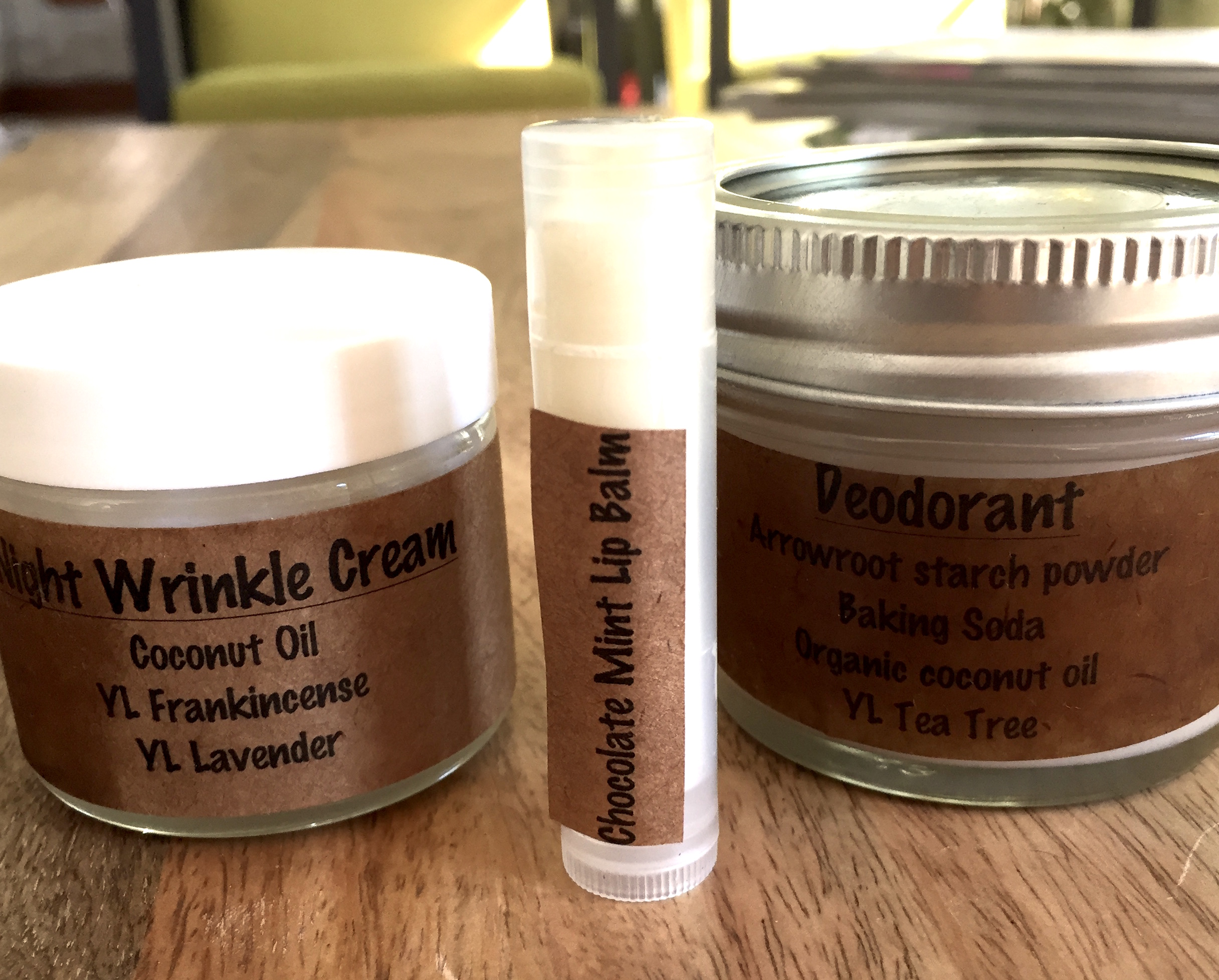 the lovely products Amy sent me!