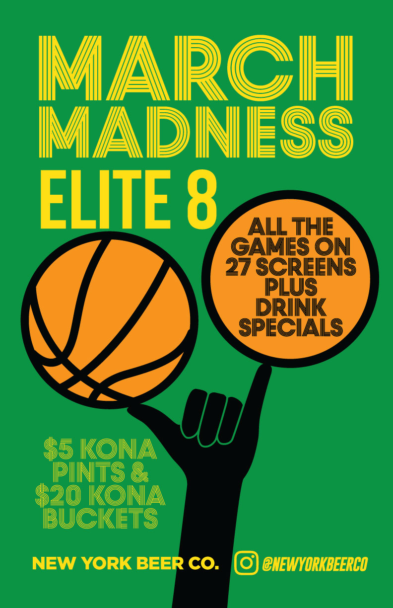 Watch March Madness Elite 8 NYC Midtown