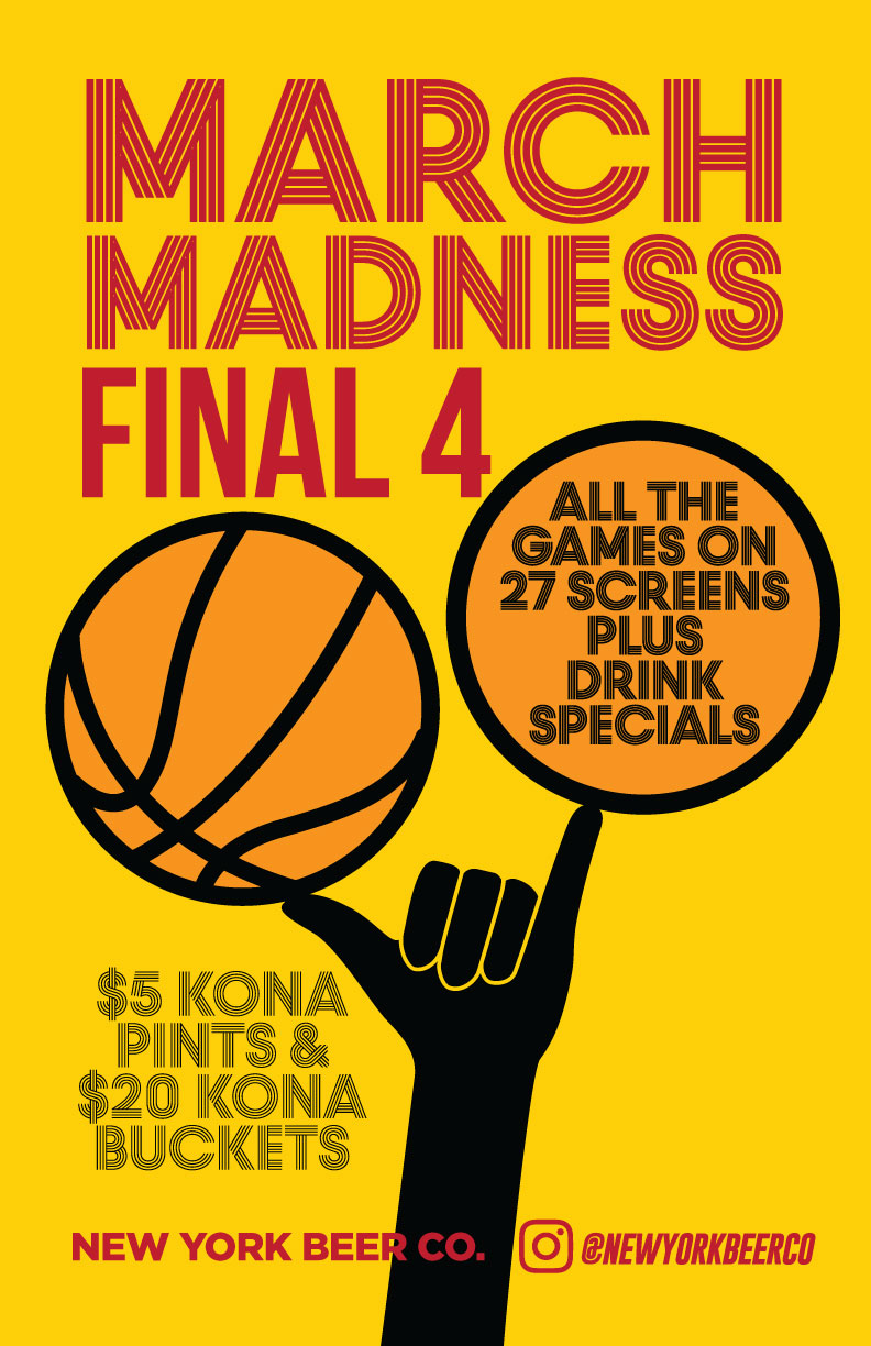 NYC bars showing FInal Four Midtown