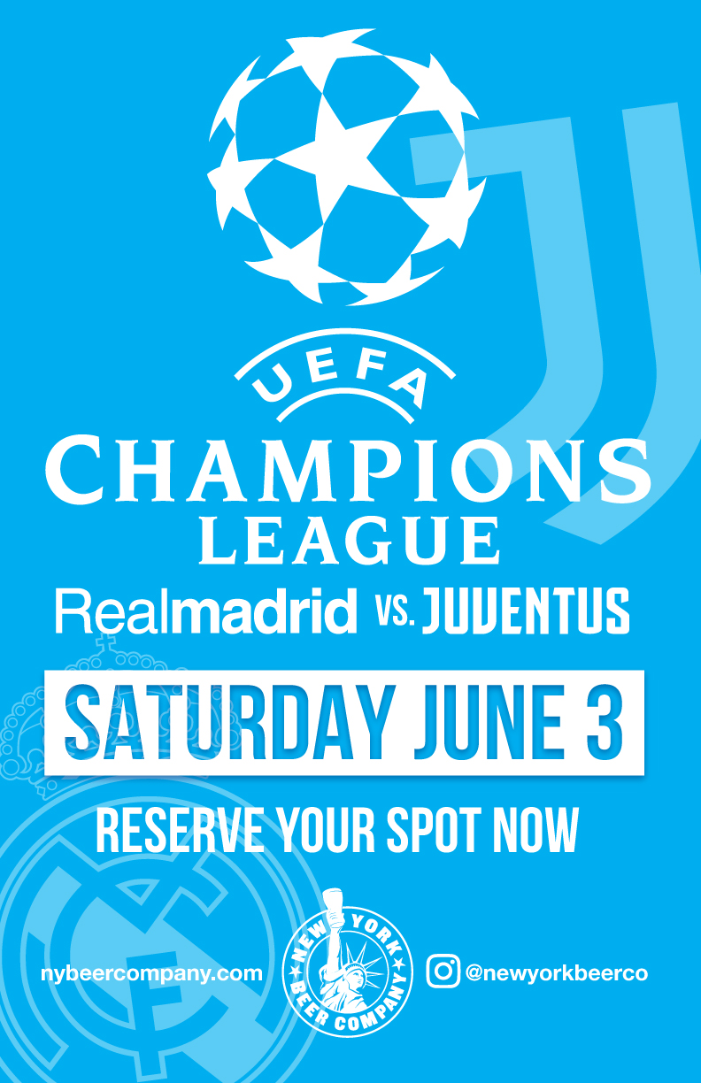 Watch Champions league Finals June 3 NYC