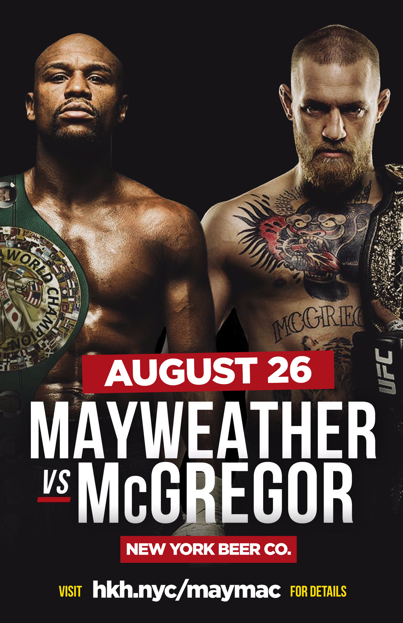 nyc bars showing Mayweather McGregor