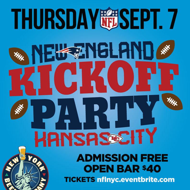 nyc bars nfl kickoff patriots