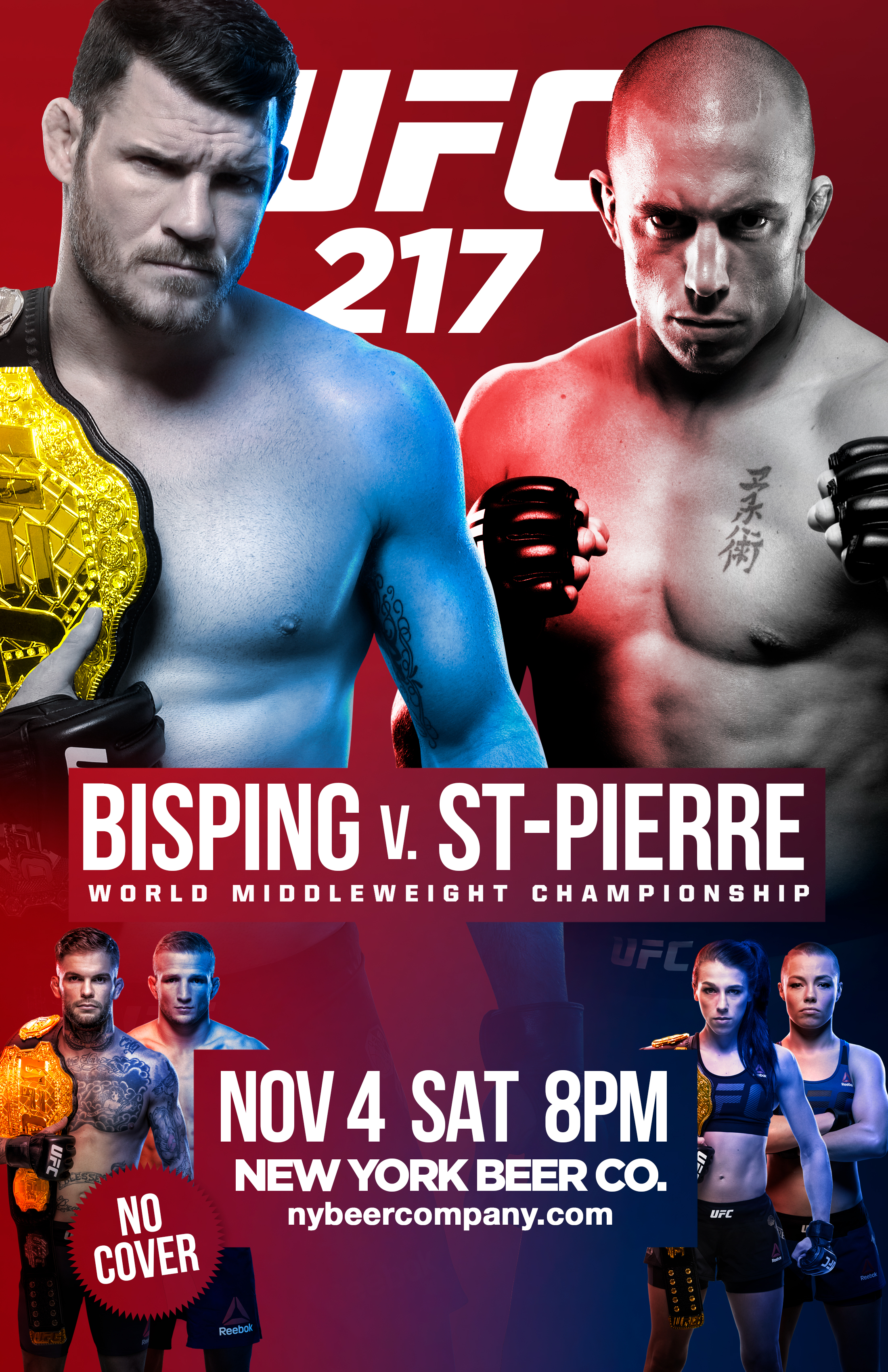 Watch UFC 217 in NYC