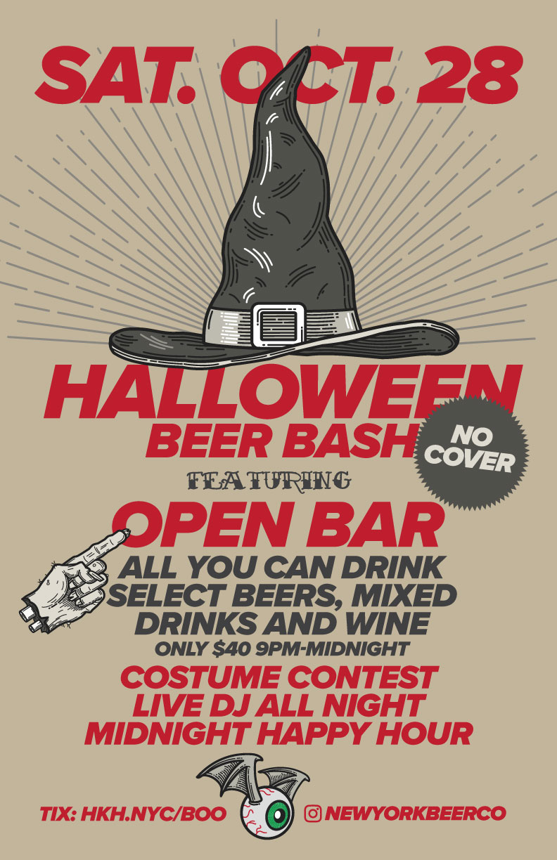 NYC Halloween Party Open Bar