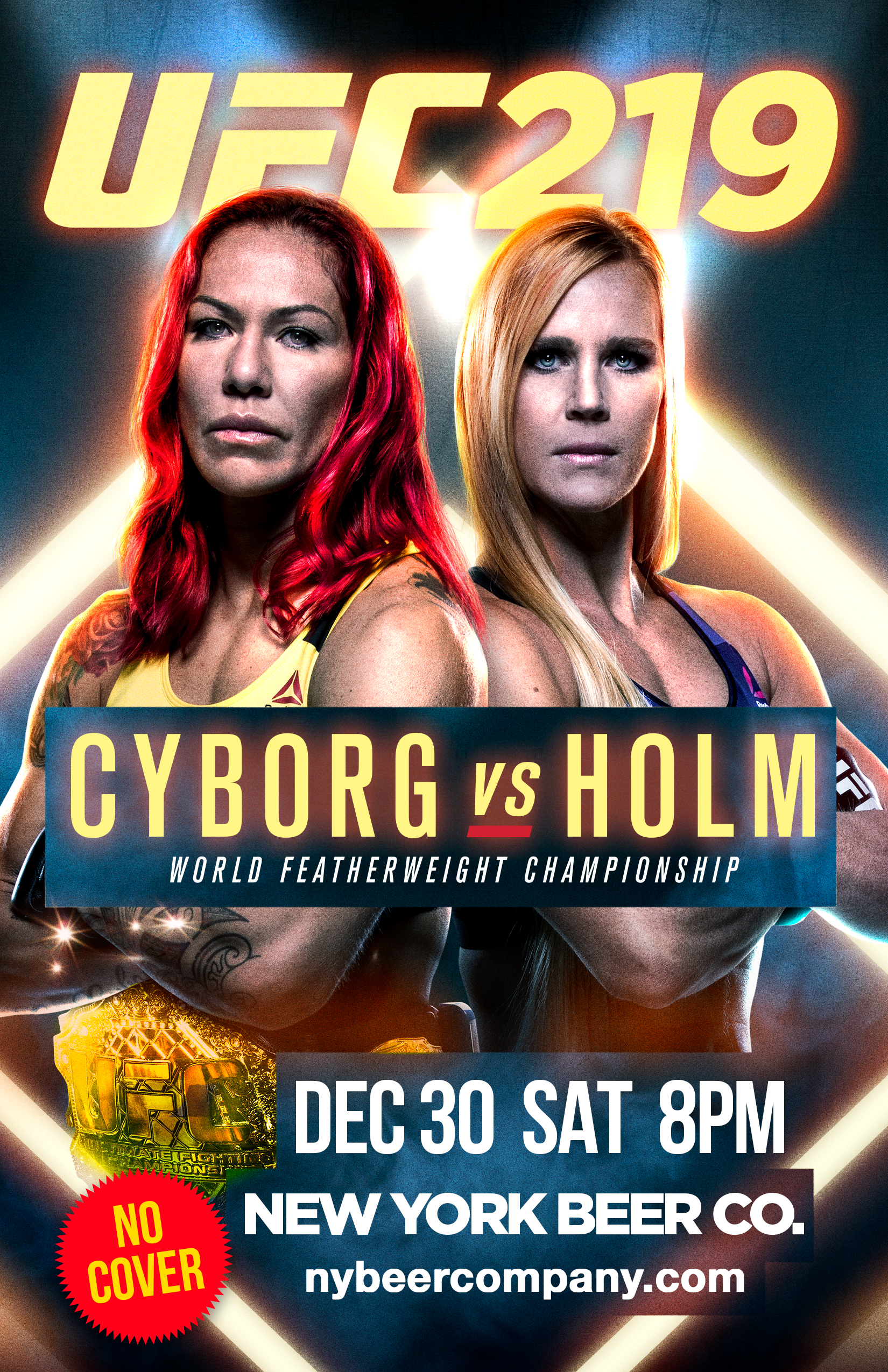 nyc bars showing ufc 219 free