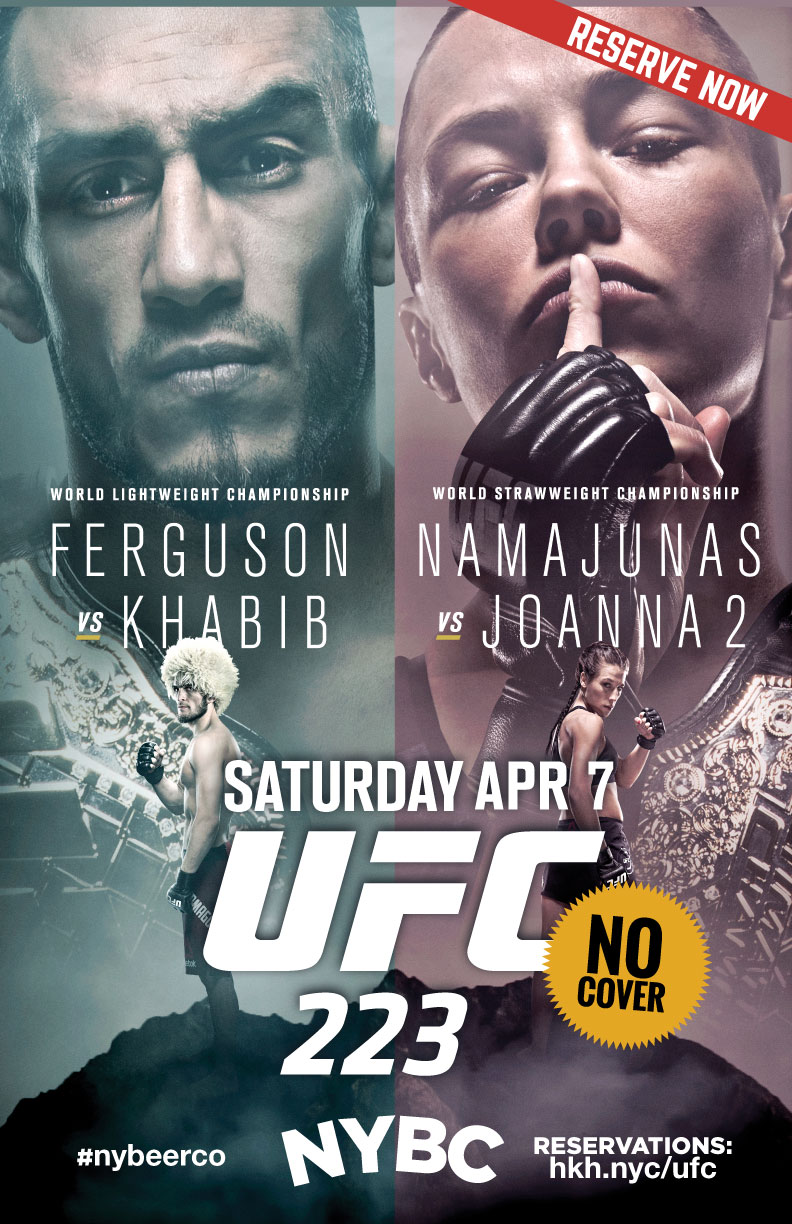 Watch UFC 223 in NYC No cover