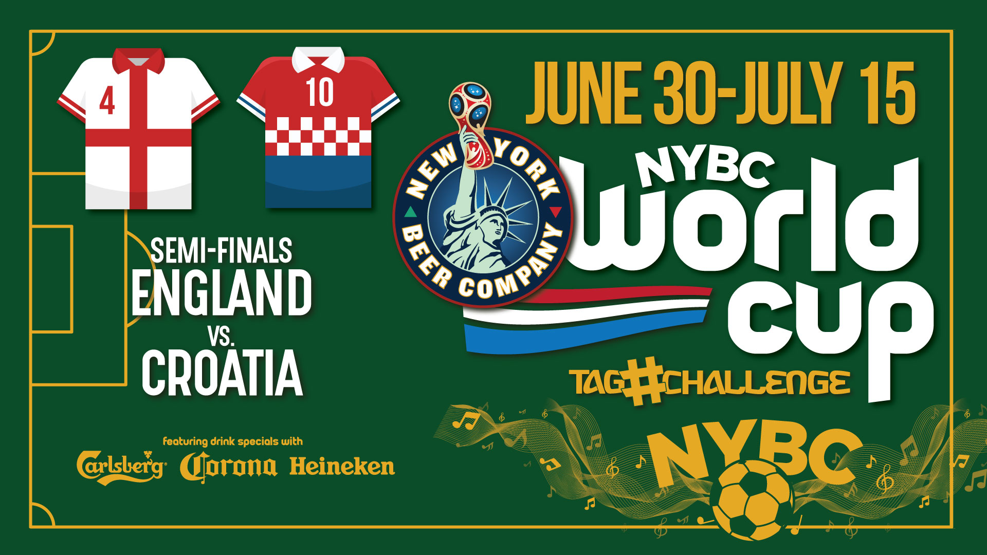 Watch World Cup NYC SEMIFINALS ENGLAND vs. CROATIA