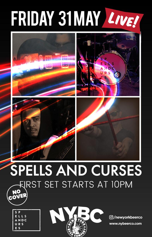 Spells & Curses band perform live NYC